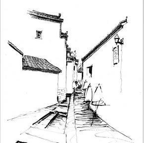 中国画图片简单一点 钢笔简单中国画图片