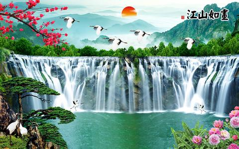 山水风景画图片大全 山水风景画背景图片_山水风景画背景素材