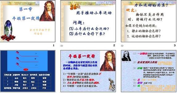 牛顿第一定律知识点 高一物理牛顿第一定律知识点汇总