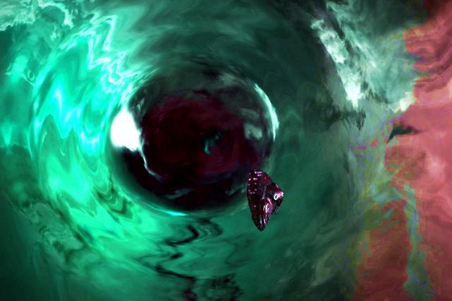 如果穿越时空时半道拐出去,会进入另外的世界吗?其实情景很可怕