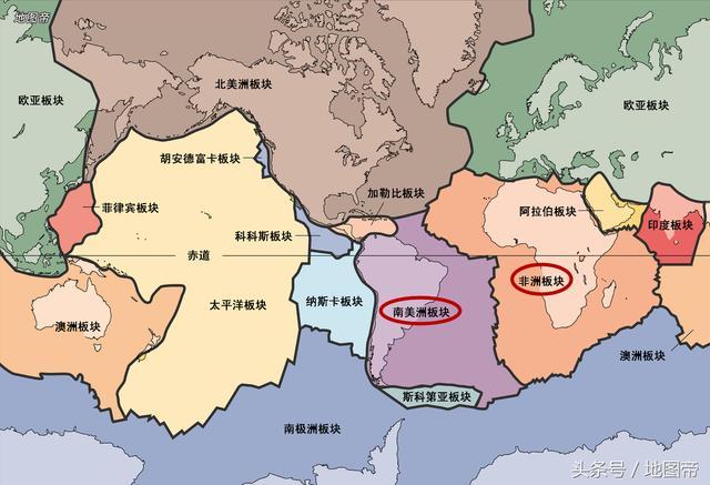 巴西和喀麦隆2亿多年前连成一片,如今隔着大西洋